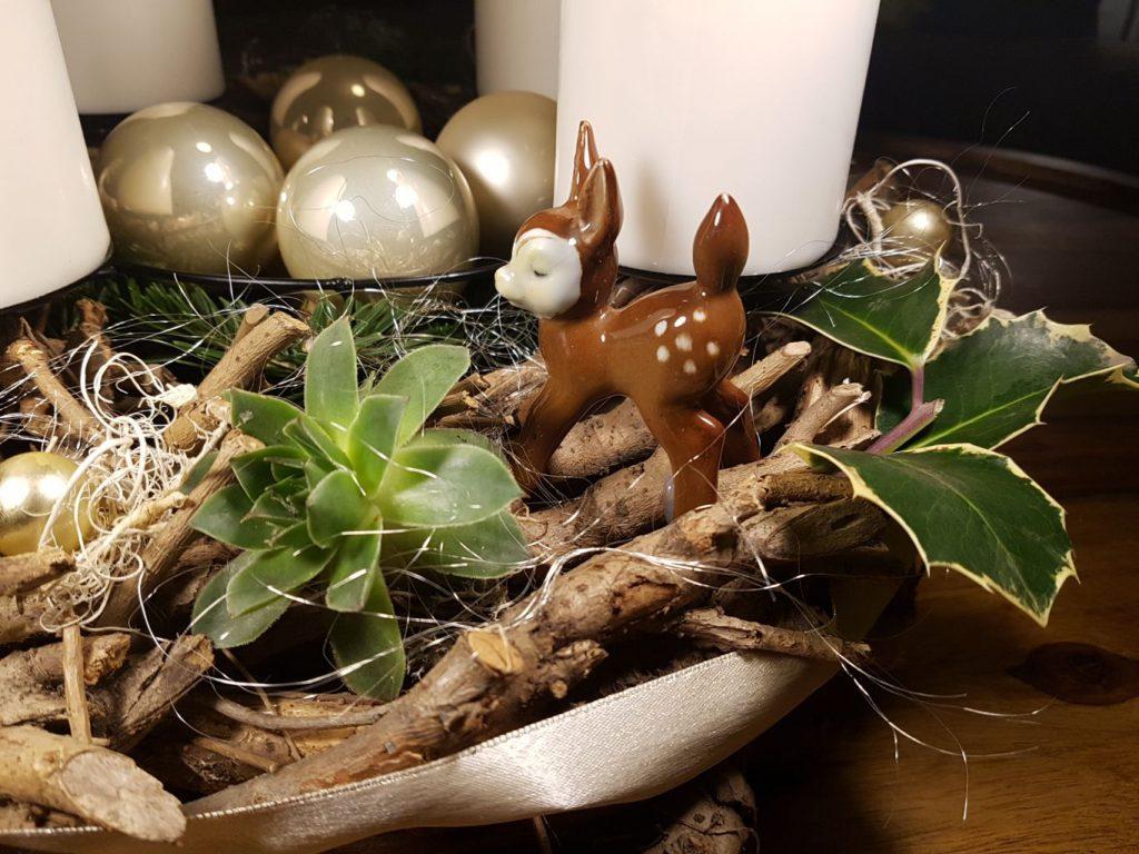 Adventi koszorú Bambival